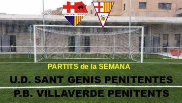 PARTITS CAP DE SEMANA 14-15 DE SEPTEMBRE