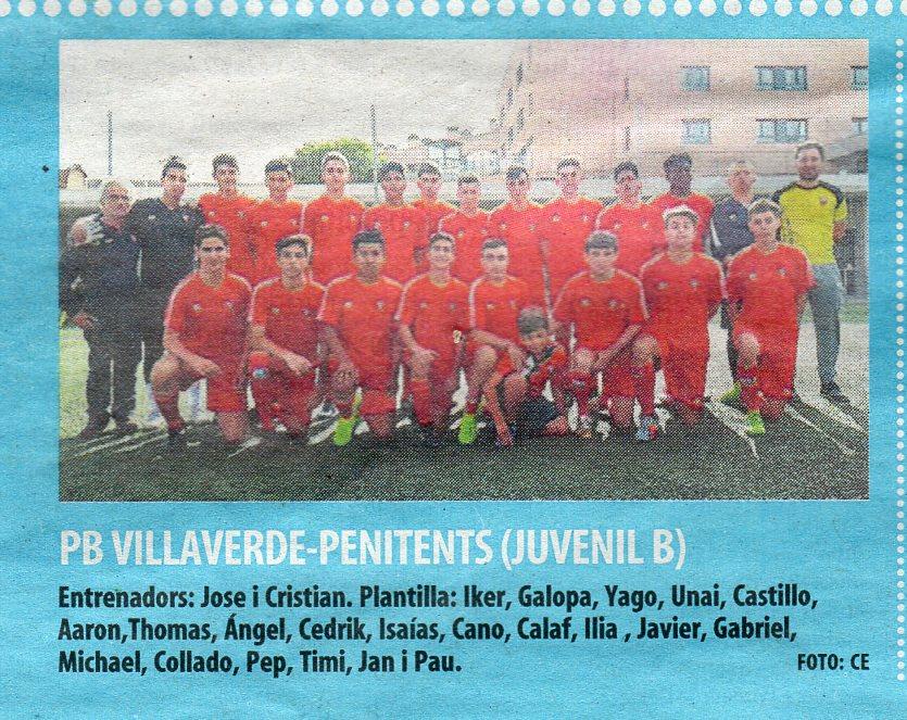 "JUVENIL ""B"" AL MUNDO DEPORTIVO (05-11-19)"
