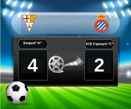 "PARTIT BENJAMÍ ""A"" 4 (vs) RCD ESPANYOL ""C"" 2"