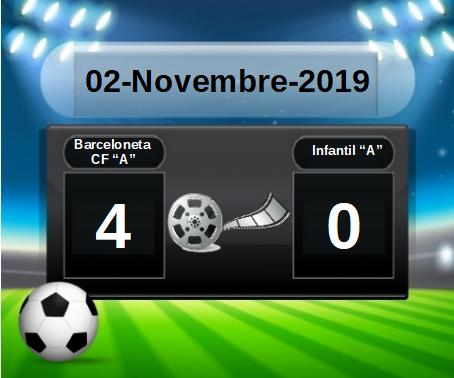 """PARTIT BARCELONETA CF """"A"""" 4 (vs) INFANTIL """"A"""" 0 (02-11-09)"""